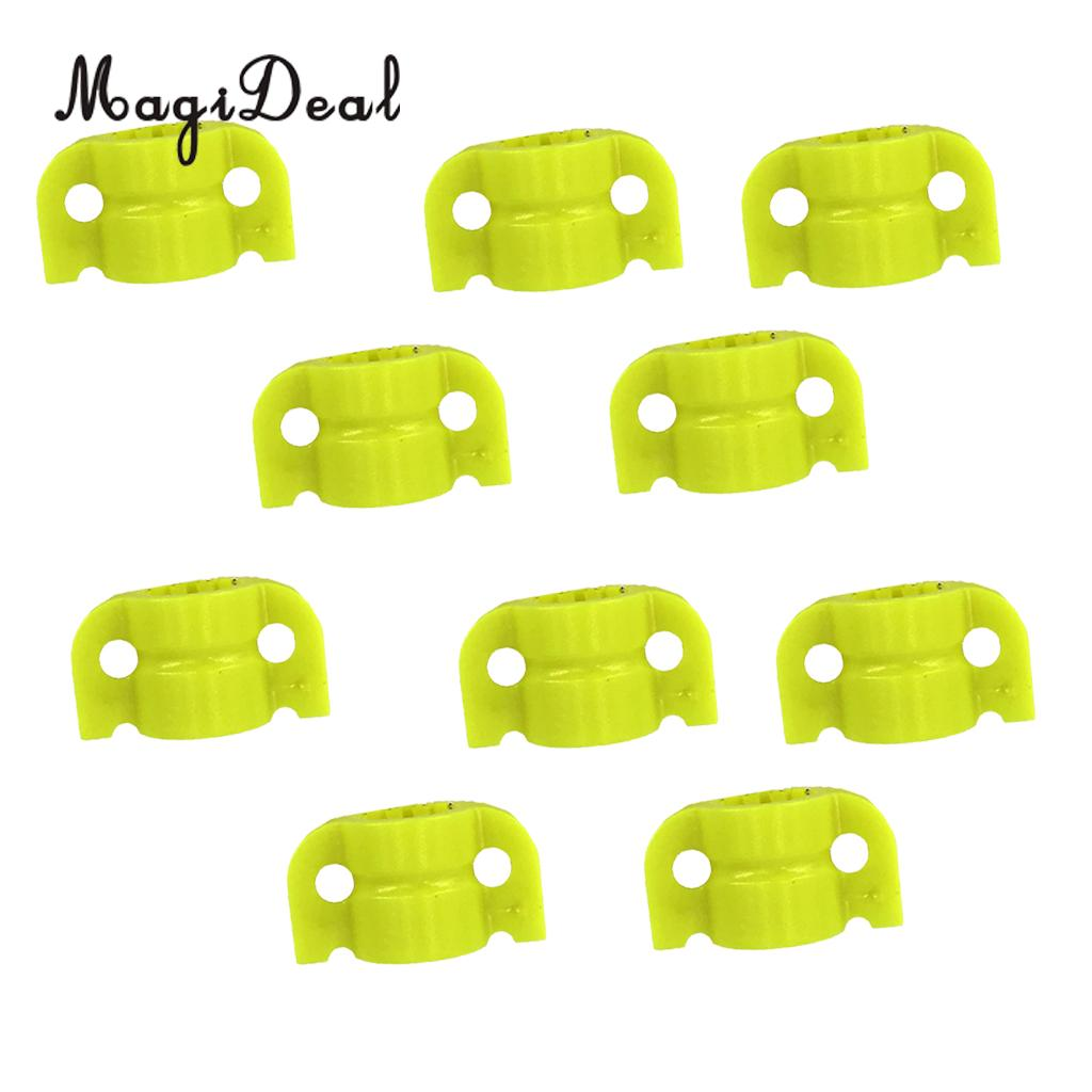 MagiDeal 10pcs Plastic Archery Bowfishing Safety Slider for Fishing Arrow Shafts Outer Diameter 8mm