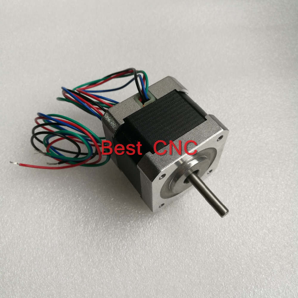 цена 5pcs/lot 4-lead Nema17 Stepper Motor 42 motor NEMA 17 motor Nema 17 Stepper Motor 0.9 42mm 1.68A use for 3D printer and CNC