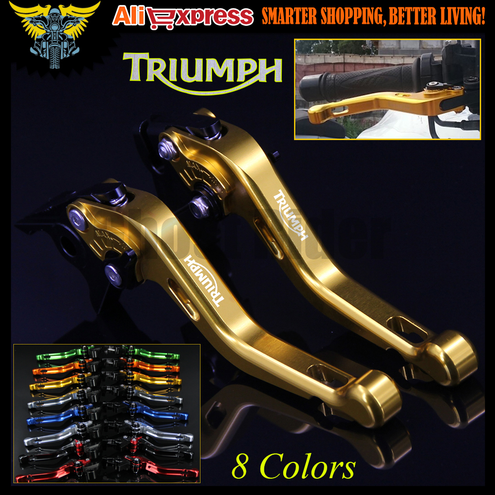 8 Colors For Triumph TIGER 800/XC 2011 2012 2013 2014 Gold CNC Aluminum Adjustable 2 finger Short Motorcycle Brake Clutch Levers motorcycle new adjustable cnc billet short folding brake clutch levers for triumph tiger explorer 1200 2012 2015 2013 2014 12 15