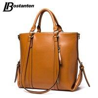 Bostanten Genuine Leather Brand Luxury Handbags Women Bags Designer Women TopHandle Bags Female Black Brown Leather