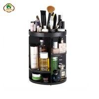 Msjo Makeup Organizer 360 Degree Rotation Makeup Storage Box Adjustable Organizer For Cosmetics Home Plastic Organizer Box