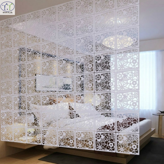 WPC Carved screen room Hanging screen Partition Wall ...