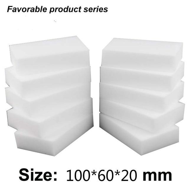 50pcs 10*6*2 cm White Kitchen Sponge high density dish washing melamine magic cleaning dishes clean melamine sponge eraser pad