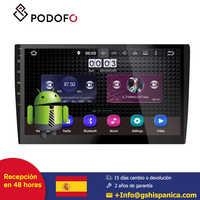 Podofo ''Rádio Do Carro Android 8.0 din 10 2 rádio coche Carro Universal CD/DVD Player de Navegação GPS FM AM USB