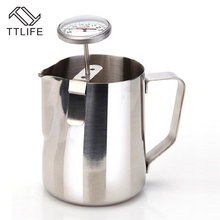 TTLIFE Stainless Steel Probe Thermometer For Frothing Milk Espresso Coffee Tea Drinking Coffee Temperature Accessories Timers цена 2017