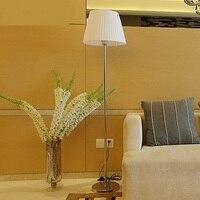 Американский стиль ткань напольные светильники гостиной, спальни моды отель Гостиная Освещение Торшерами ZA