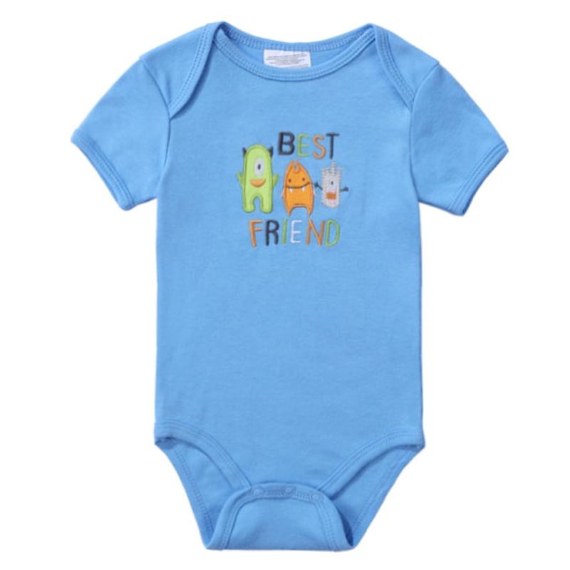 2018 Newly Baby Bodysuits 100% Cotton Infant Body Short Sleeve Clothing Jumpsuit Cartoon Animal Printed Baby Boy Girl Bodysuits (1)