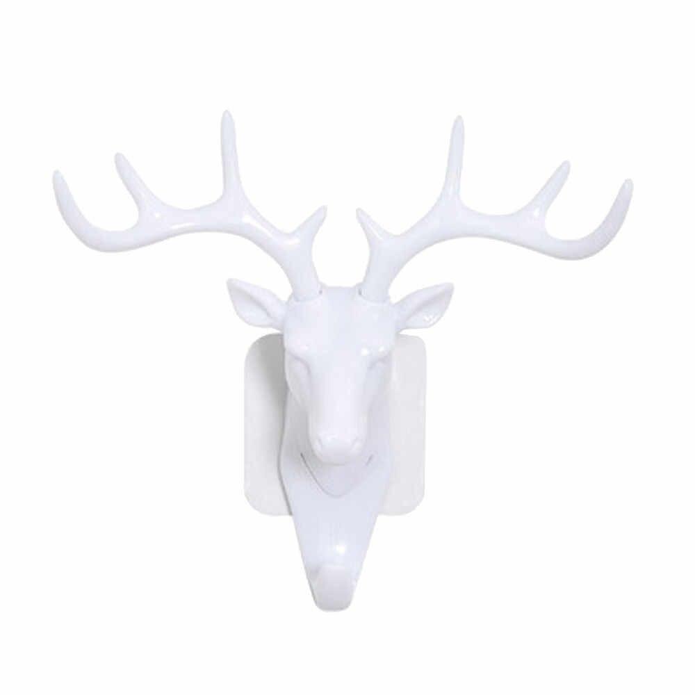Вешалка для головы оленя 2019top голова оленя самоклеющиеся стены дверной крючок-вешалка сумка ключи клейкий держатель g90522