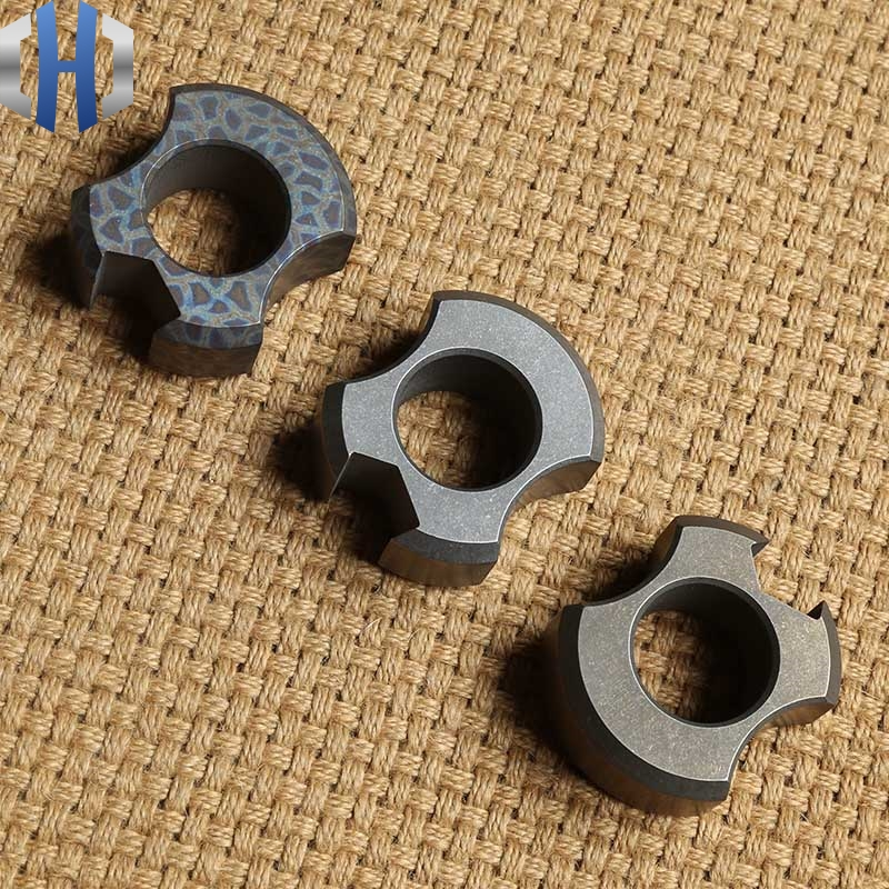Bottle Opener 20mm Thick Titanium Alloy Defense Ring Buckle EDC To Escape The Survival Window Breaker Tool in Outdoor Tools from Sports Entertainment