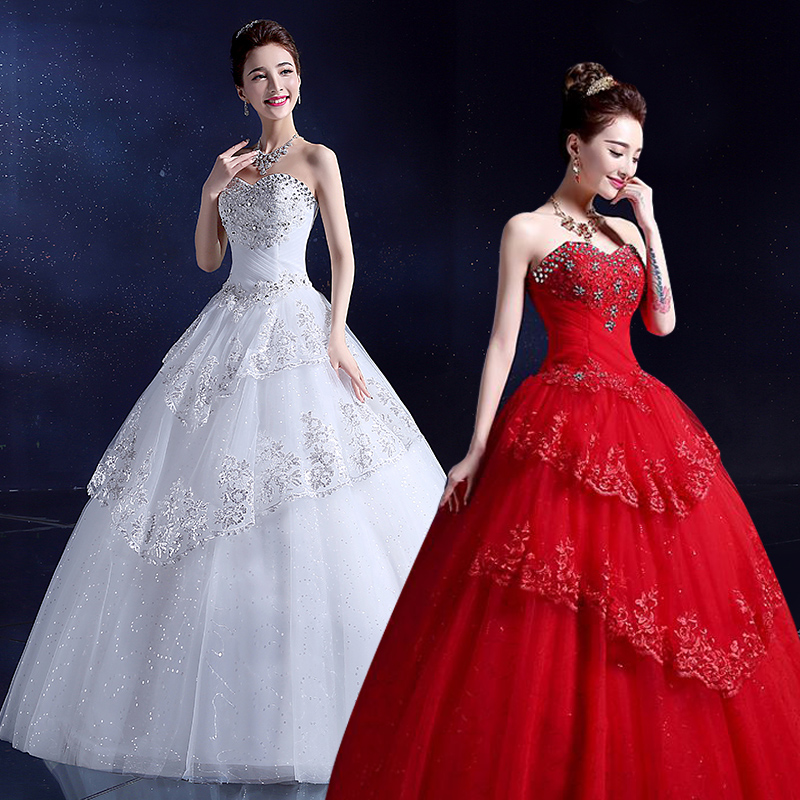 2015 Designer Wedding Gowns: Aliexpress.com : Buy 2015 New White Princess Wedding Gown