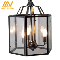 LOFT Style Pedant Light American Country Retro Birdcage Lamp Creative Restaurant Bar Home Lighting Iron Cage