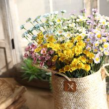 Chrysanthemum 15 Heads Artificial Flowers Daisy Flower Silk Gerbera for Wedding Home Decoration