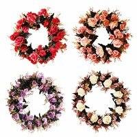 1 sztuk Rose Garland Wieniec Silk Floral Domu Ściana Decor Sztuczne Rose Sztuczne Bukiety Ślubne Pachnące Mydło