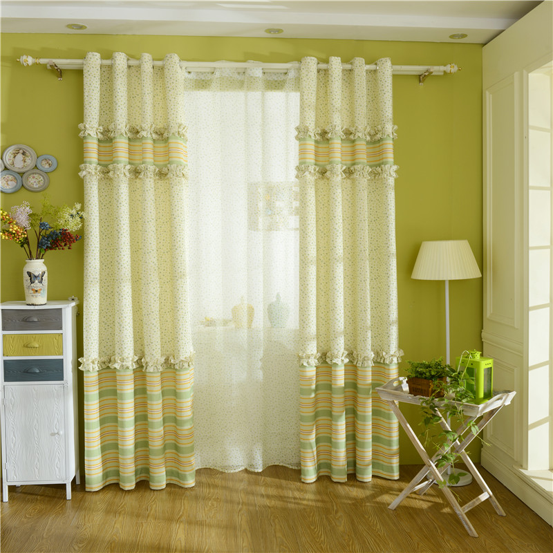 Summer New Cotton And Linen Stitching Curtains Modern Minimalist Bedroom Living Room Customized Products