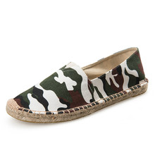 Camouflage Fisherman Shoes Men 2019 New Casual Canvas Male Flats Leisure Espadrille Plimsolls Hemp Loafers