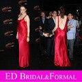 Emma Stone Vestido de Noite Backless Spaghetti Zombieland Premiere