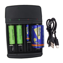 Get more info on the 4 independent charging Slots Intelligent chip LED battery Charger for 1-4 pieces A AA AAA AAAA C D SC N Alkaline Batteries 1.5V