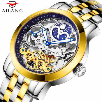2018 AILANG Skeleton Tourbillon Fashion Casual Designer Mechanical Mens Watches Top Brand Luxury Automatic Watches Men Clock - DISCOUNT ITEM  40% OFF All Category