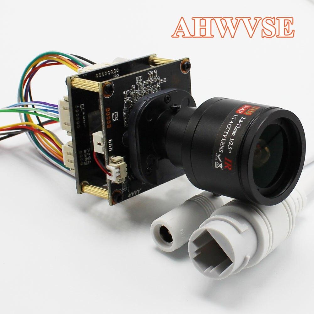 AHWVE H.265 1080 P del IP di POE Modulo Della Macchina Fotografica 2.8-12mm Lens Manuale 2MP RisoluzioneAHWVE H.265 1080 P del IP di POE Modulo Della Macchina Fotografica 2.8-12mm Lens Manuale 2MP Risoluzione