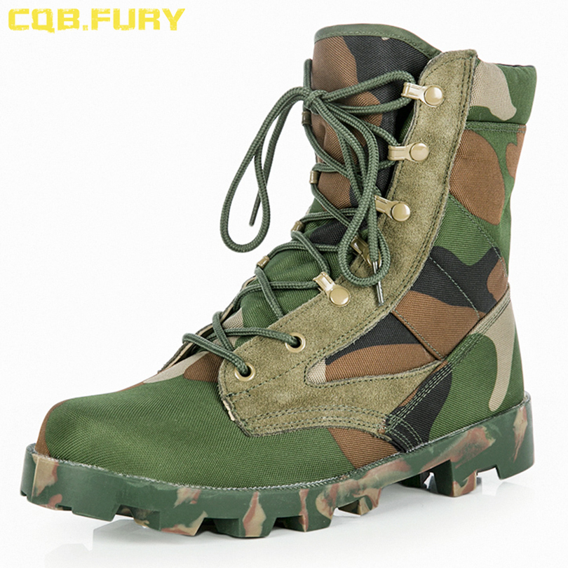 CQB FURY Military Boot Men Waterproof Tactical Leather Black Army Boots Desert Lace up Comfulage Cow