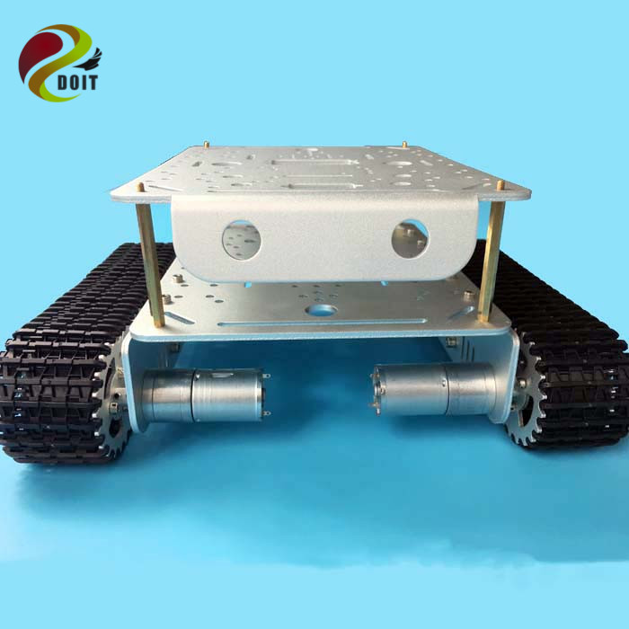 TD200 Double Caterpillar Heavy Metal Tank Chassis Robot Model Intelligent Car Electronic Contest DIY RC Toy Parts DOIT цена