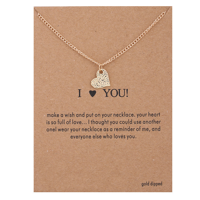 ove Heart Alloy Gold Plated font b Shorts b font Chains Clavicle Necklaces Pendants New Fashion