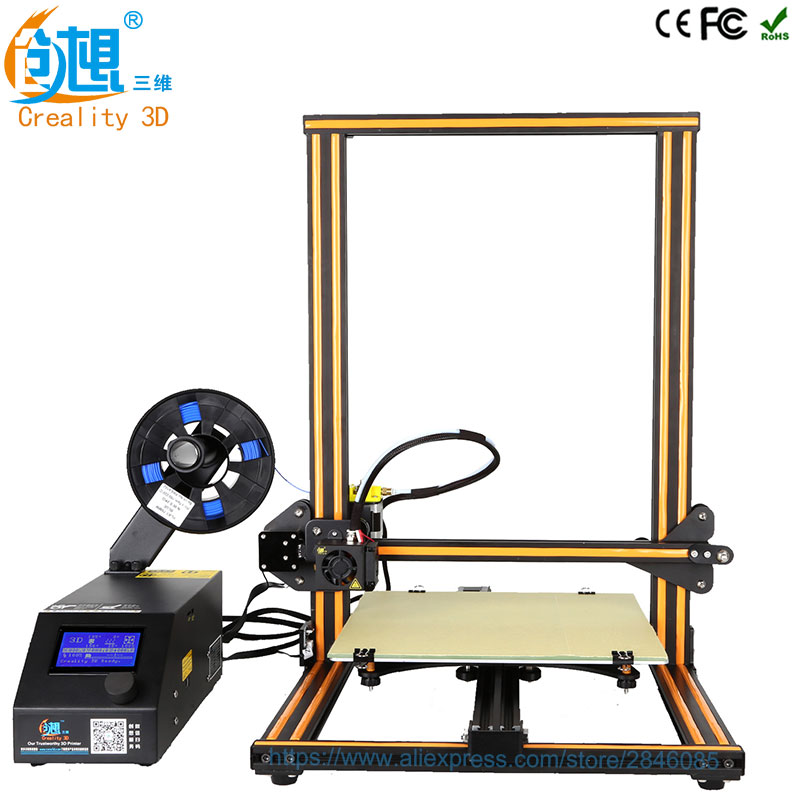 Creality 3D Official Creality CR-10 3D Printer Printing Size 300*300*400mm Semi DIY 3D Printer Kit With Aluminum Heated bed flsun 3d printer big pulley kossel 3d printer with one roll filament sd card fast shipping