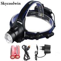 CREE XM L T6 3500LM LED IR Sensor Headlamp Induction Micro Rechargeable Headlight 18650 flashlight head light lamp + 2x 18650