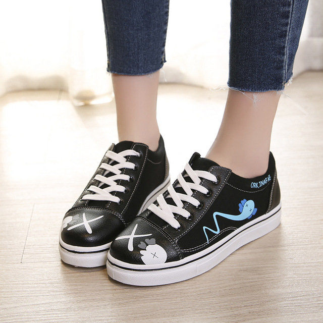 2018 New Pattern Ins Exceed Fire Real Woman Spring Canvas Shoe Joker Student Shoes. Restore Ancient Ways Port ShoesALEX 4
