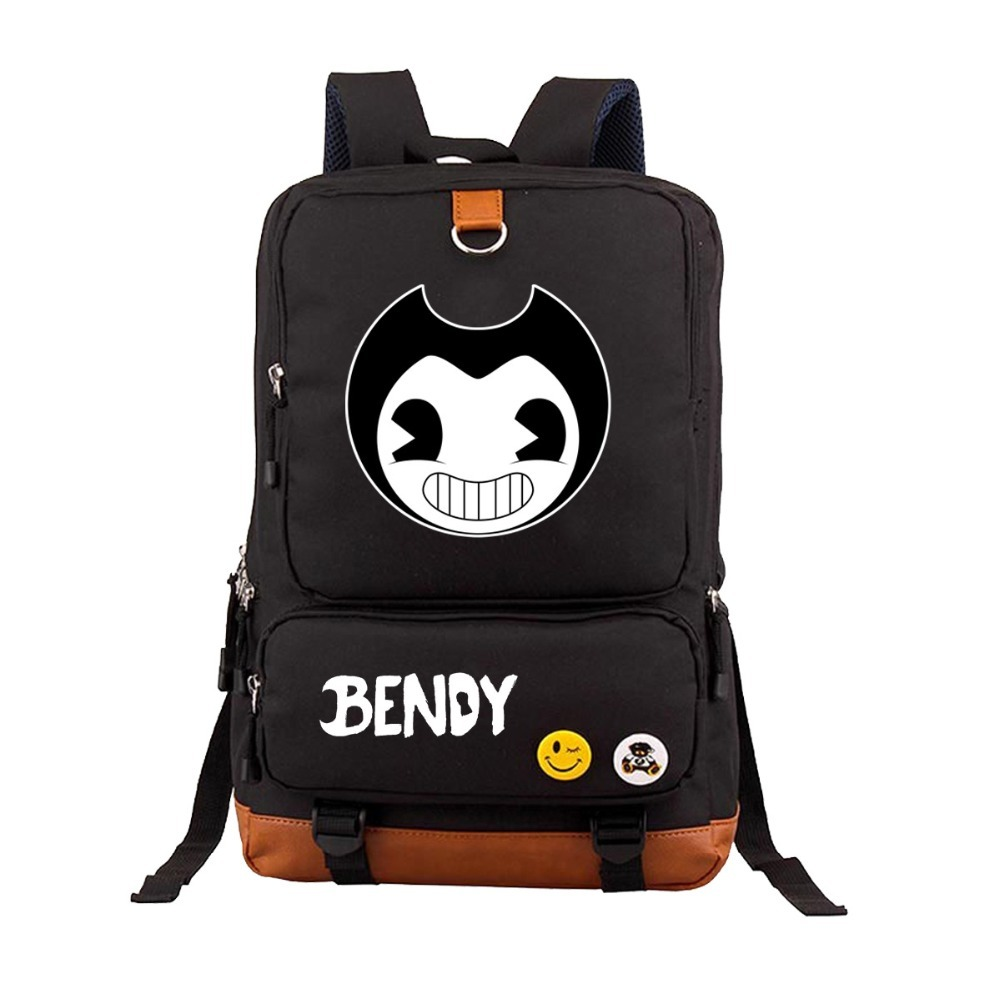 Hot anime Bendy and The Ink machine school bag backpack student book bag Notebook men women backpack Daily backpack 4 style все цены