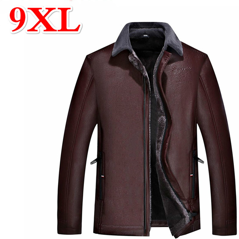 Spirited 9xl 8xl 7xl Sells 6xl 5xl Leather Leather Jacket Everyday To The Men's Leather Jackets Of Winter Men Sales Of Quality Assurance