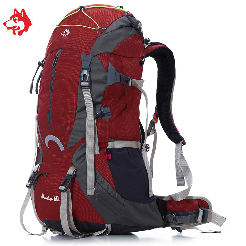 Brand Unisex 60L Outdoor Sport Travel Hiking Backpacks Bag For Climbing Mountian Mochila Camping Hunting Backpack Rucksack