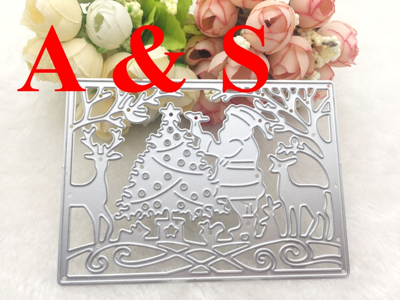 Q112 METAL CUTTING DIES cut Father Christmas Santa Claus tree deer Scrapbook card album PAPER CRAFT embossing stencils template