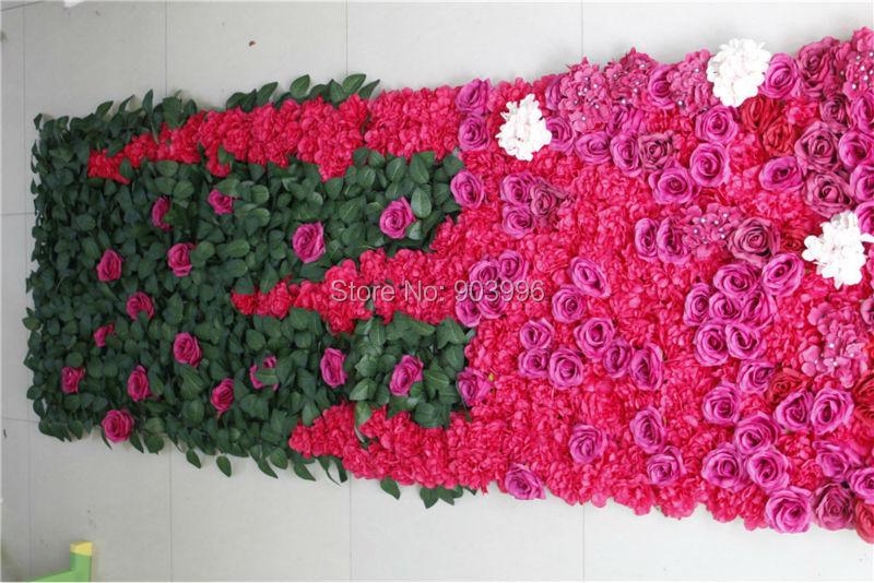 SPR vysoce kvalitní 3 * 0.8M svatební květiny stěna fáze pozadí - Pro svátky a večírky