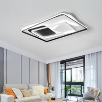 Современные светодиодный Люстра Свет для гостиной простая атмосфера дома творческая личность новый прямоугольный зал люстра лампа