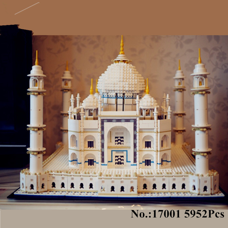 H&HXY IN STOCK Free shipping New 17001 5952pcs The taj mahal Model LEPIN Building Kits  Brick Toys 10189 Christmas Gift partners lp cd