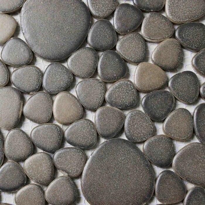 carrelage en ceramique de galets pour salle de bain douche cuisine dosseret couloir piscine mosaique de couleur marron 30x30cm