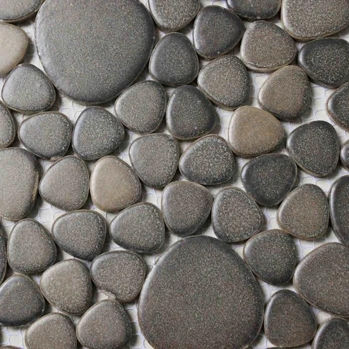 pebble ceramic tiles for bathroom shower floor tiles kitchen backsplash hallway swimming pool mosaic brown color 30x30cm