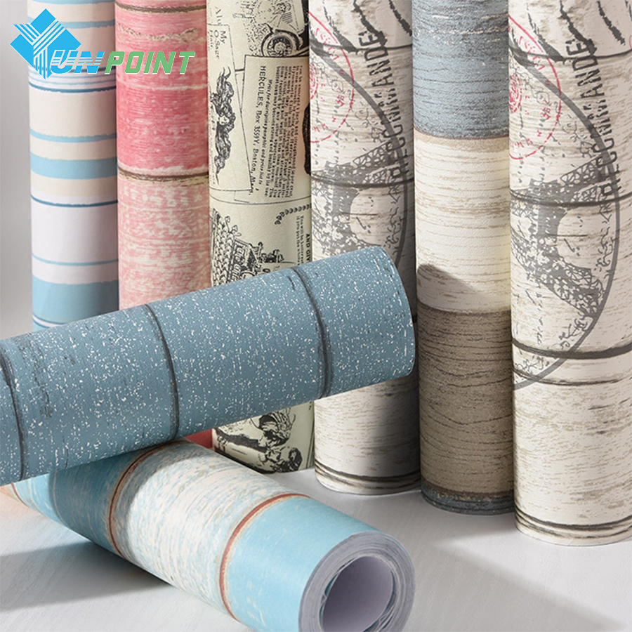 self adhesive wallpaper waterproof pvc wall sticker removable vinyl wood self 30524