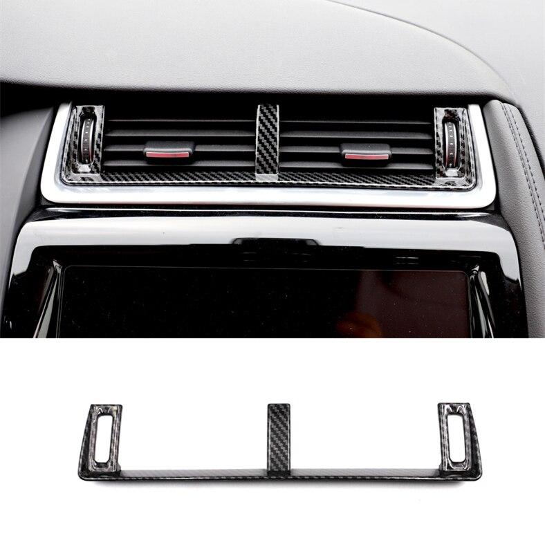 World Datong Interior Center Air condition Outlet cover Carbon fiber texture decoration trim 1pc For Jaguar E-PACE LHD 2018 2019