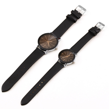Famous Brand Black Classic Color A pair Couple Watch Women Men Fashion Clock