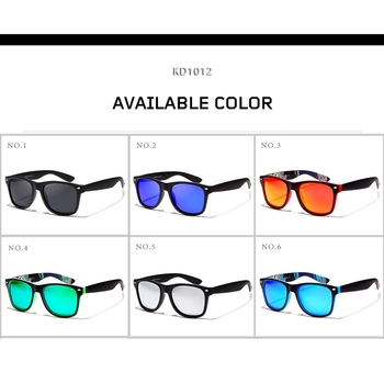 KDEAM 2018 Sunglasses Polarized Men Square Sun Glasses Outdoor Classical Women Brand design Eyewear 100%UV400 6 Colors KD1012