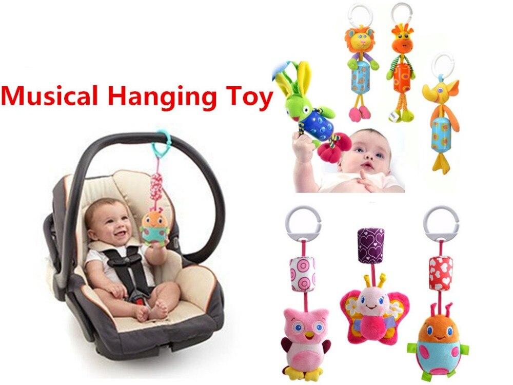 Musical Baby Hanging Toy Rattle Stroller hangings aksesori kereta dorong Kereta Plush Doll Bell Birthday Christmas Gift