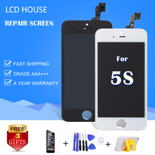 Best AAA Display For iPhone 5S 5C 5 LCD Screen Touch Digitizer Assembly Replacement A1453 A1457 No Dead Pixel Spot Free shipping