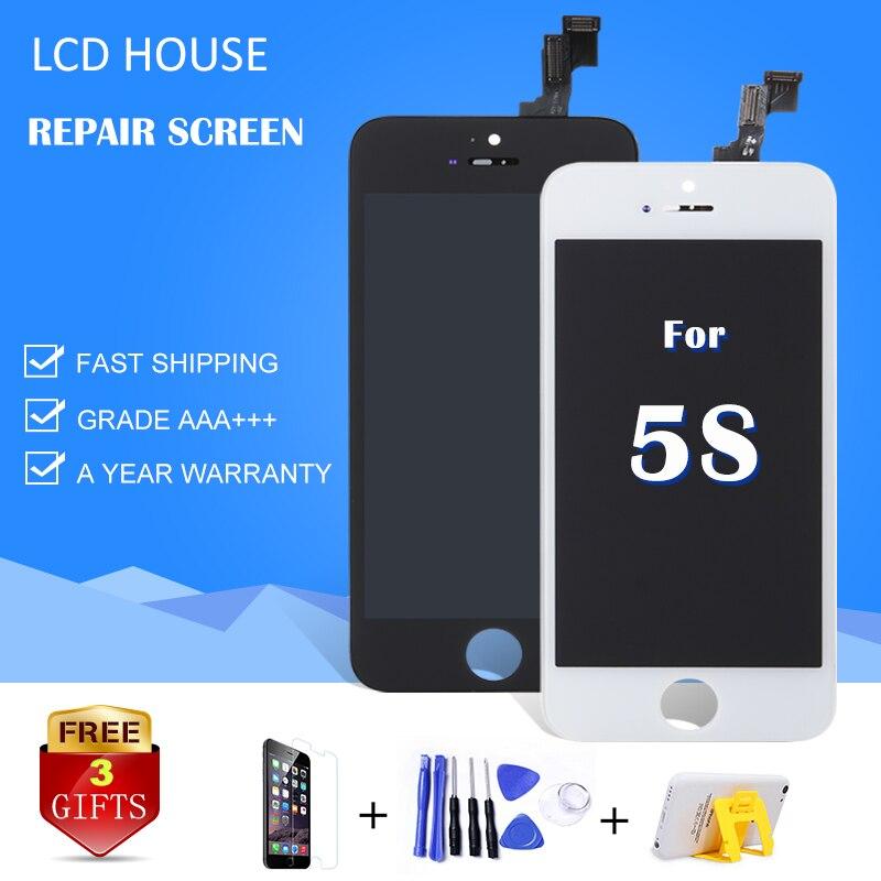 Mejor AAA para iPhone 5S 5C 5 pantalla LCD táctil digitalizador Asamblea reemplazo A1453 A1457 No Dead Pixel Spot envío libre