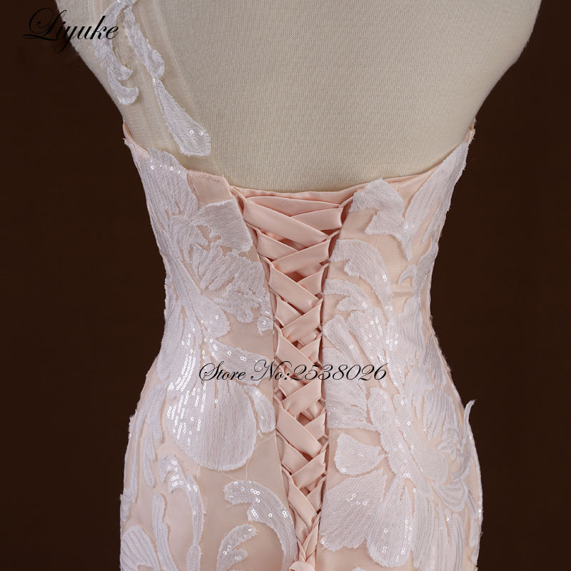 Θαυμάσια Tulle V-Neck Ράφι Backless Γοργόνα - Γαμήλια φορέματα - Φωτογραφία 4