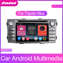 ZaiXi Android Car Multimedia player 2 Din WIFI GPS Navigation Autoradio For Toyota Hilux SW4 2012~2015 Radio FM Maps BT
