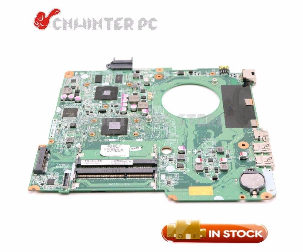NOKOTION 734821-001 734821-501 For HP Pavilion 15-N Laptop Motherboard DA0U93MB6D0 HD8400 A6-5200 CPU DDR3 734827 001 734827 501 laptop motherboard a6 5200m cpu da0u93mb6d0 for hp 15 n series notebook pc 100