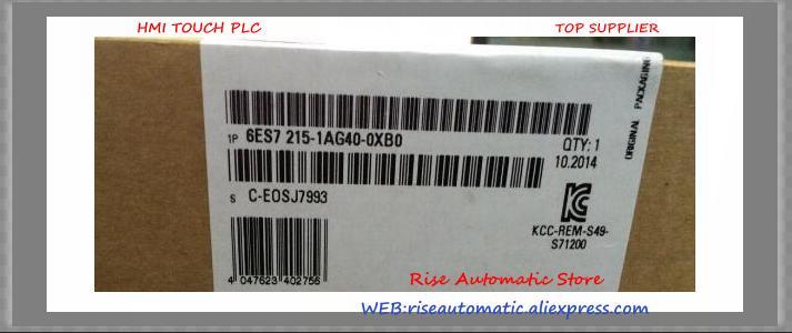 Yeni orijinal PLC 6ES7215-1AG40-0XB0 6ES7 215-1AG40-0XB0 S7-1200 CPU PLC yerine 6ES7215-1AG31-0XB0 kutusu 14 DI 24V DC 10 DO
