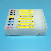 T6061 For Epson Stylus Pro 4880 refill ink cartridge with resettable chip 8 color 300ml for Epson T6061 T6068